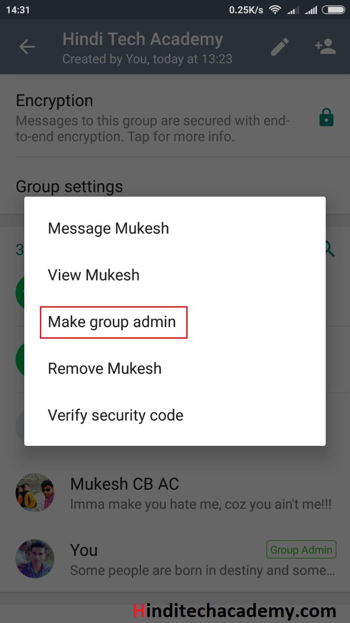WhatsApp Group ka Admin kaise change kare