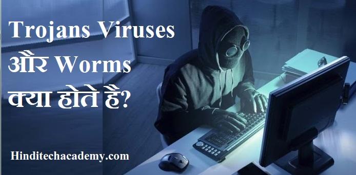 Trojans Viruses और Worms क्या होते है?