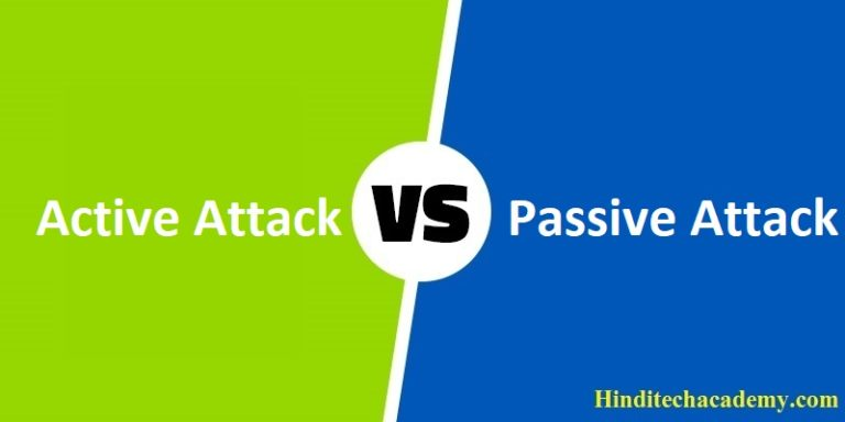 Difference Between Active and Passive Attacks in Hindi