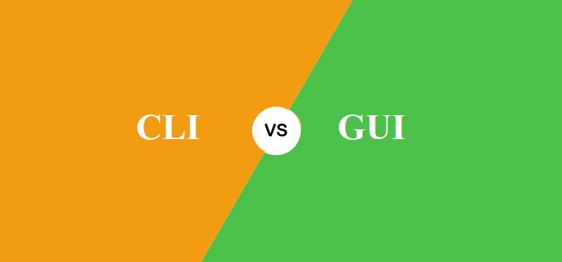 CLI और GUI में क्या अंतर है?