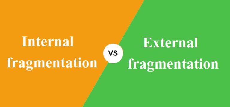 Internal और External fragmentation में क्या अंतर है?