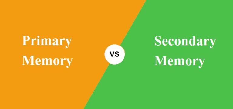 Primary और Secondary Memory में क्या अंतर है?