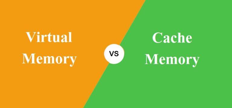 Virtual और Cache Memory में क्या अंतर है?